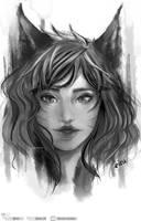 Ahri Portrait Fanart - From League of Legends by eizu