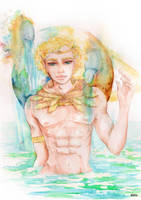 AQUARIUS - Original Horoscope Watercolor Series by eizu