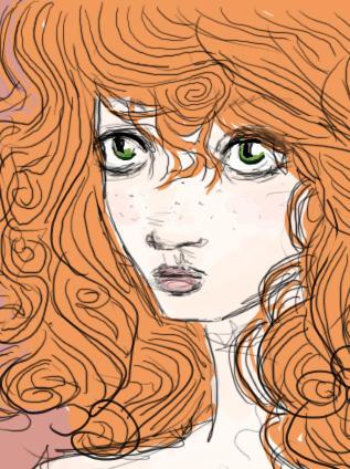redhead sketch by Hide-n-seek