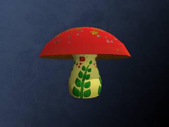 Ceramic Mushroom - Flower Power edition by dragaodepapel