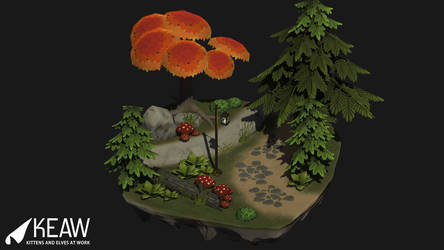 Low Poly Stylized Scenery - Game Art by dragaodepapel