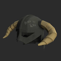 Skyrim Horned Helmet by dragaodepapel