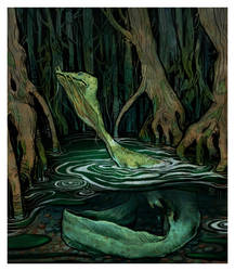 green slime creature by bluefooted