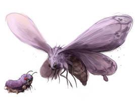 Venonat - Venomoth by MrRedButcher