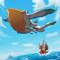 Wingull - Pelipper | Great Sea by MrRedButcher
