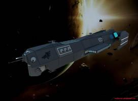 Spaceship Wolf Class Attack Frigate by RedDuran