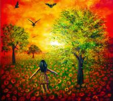 Sunflower Sky by AnnMarieBone