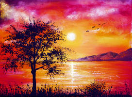 Sunset Tree by AnnMarieBone