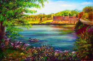 Tissington Duck Pond by AnnMarieBone