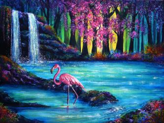 Flamingo Falls by AnnMarieBone