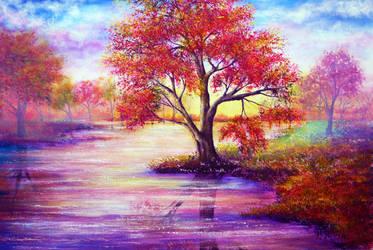Autumn Waters by AnnMarieBone