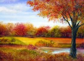 Derbyshire Autumn by AnnMarieBone