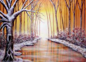 Winter Light by AnnMarieBone