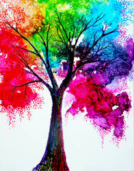 Rainbow Tree by AnnMarieBone