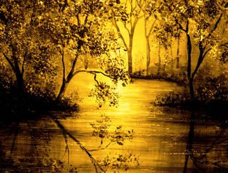Golden Waters by AnnMarieBone