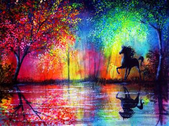 Rainbow Stallion by AnnMarieBone