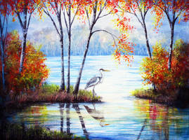 Watching Autumn by AnnMarieBone