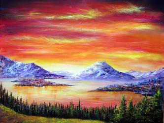 Sunset View by AnnMarieBone