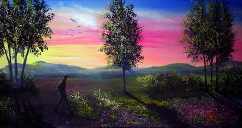 Evening Shadows by AnnMarieBone
