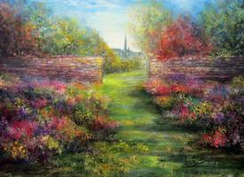 An English Garden by AnnMarieBone
