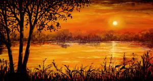 Burning Sunset by AnnMarieBone