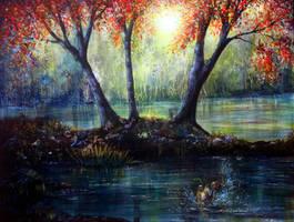 Autumn's Welcome by AnnMarieBone