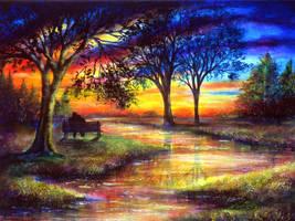 Sunset Feeling by AnnMarieBone