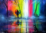Rainbow Fox by AnnMarieBone