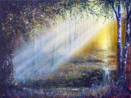 Bluebell Beams by AnnMarieBone
