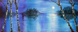 Evening Birches by AnnMarieBone