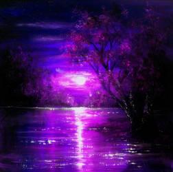 Magenta Moon by AnnMarieBone