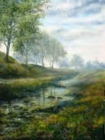 Derbyshire Stream by AnnMarieBone