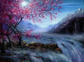 Blossom Falls by AnnMarieBone