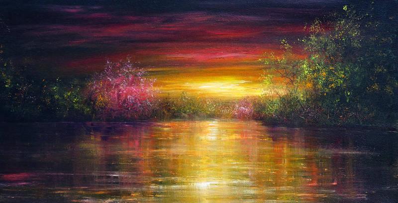 Spring Sunset by AnnMarieBone