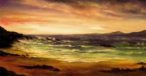 Evening Beach by AnnMarieBone