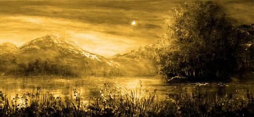 Moonlight Mountains by AnnMarieBone
