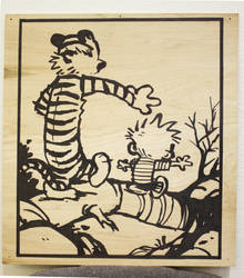 Calvin and Hobbes Homage by SCRaM01