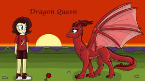 Dragon Queen: Aelwen Meets Ink Rose by EmeraldBlast63