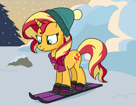 Sunset Skiing by EmeraldBlast63