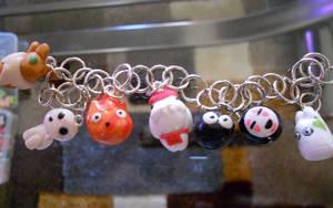 Studio Ghibli Charm Bracelet by misoandramen