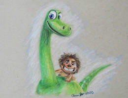 The Good Dinosaur by SleepyNoodleDoodles