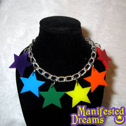 Rainbow Star Bracelet by ManifestedDreams