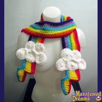 Rainbow and Clouds Scarf - Rainbow Dash Lightning by ManifestedDreams