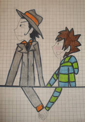 Reborn and Tsuna by Cleevy