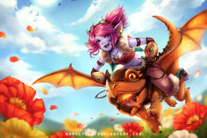 Dragon Trainer Tristana by monkeyyan