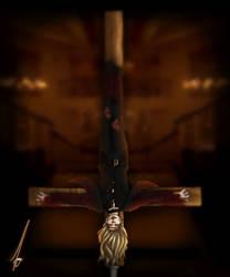 Reverse Crucifixion Michael Langdon Art  by YamahaPianoIDK