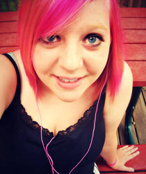 me with PINK HAIR! by ilovepretzles