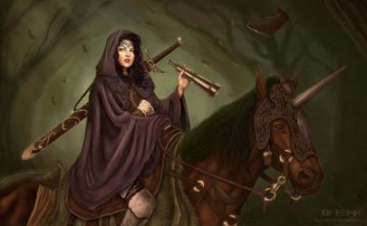 The Elf Rider by pinkhavok