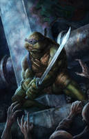 TMNT vs Zombies: Leonardo by pinkhavok