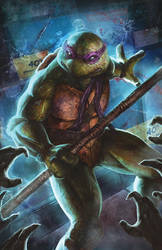 TMNT vs Zombies: Donatello by pinkhavok